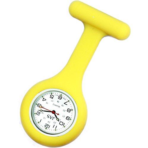 Jas Unisex Krankenschwestern Revers Armbanduhr Silikon Infektionskontrolle gelb