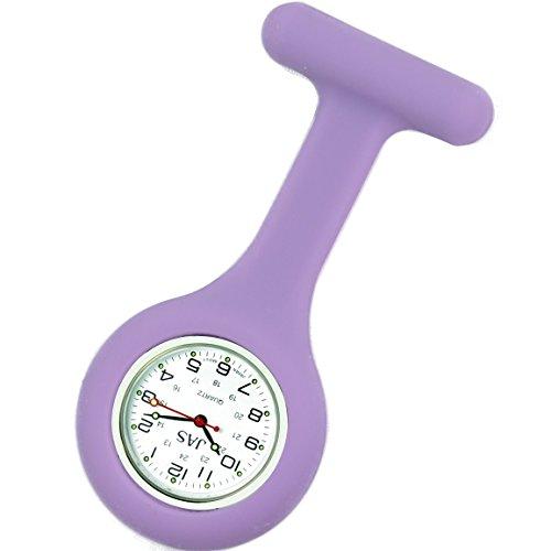 Jas Unisex Krankenschwestern Revers Armbanduhr Silikon Infektionskontrolle lila