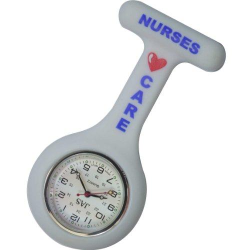 Jas Unisex Krankenschwestern Revers Armbanduhr Silikon Infektionskontrolle Krankenschwestern Pflege weiss