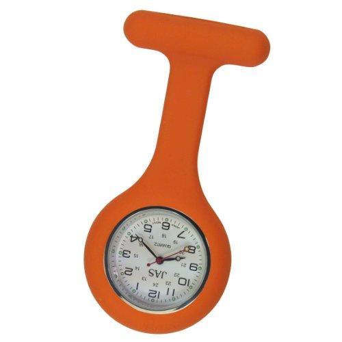 Jas Unisex Krankenschwestern Revers Armbanduhr Silikon Infektionskontrolle orange