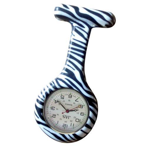 Jas Unisex Krankenschwestern Revers Armbanduhr Silikon Infektionskontrolle Zebra