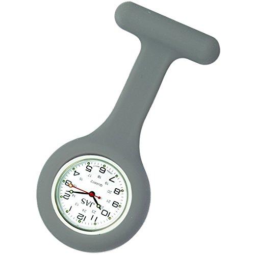Jas Unisex Krankenschwestern Revers Armbanduhr Silikon Infektionskontrolle grau