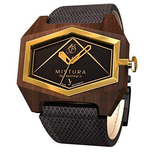 Mistura infessblkgld PUI Holz Infinite Essenza blackgold Armbanduhr