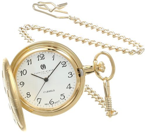 Charles Hubert 3841 G Vergoldete mechanische Taschenuhr