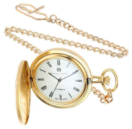 Charles Hubert 3841 GR Vergoldete mechanische Taschenuhr