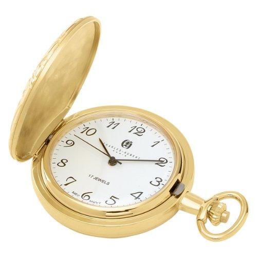 Charles Hubert 3842 Vergoldete mechanische Taschenuhr