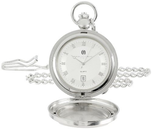 Charles Hubert 3844 Two Tone Quartz Bilderrahmen Pocket Watch