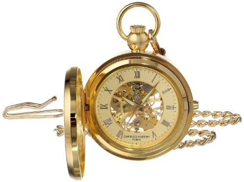 Charles Hubert 3848 vergoldeten mechanischen Bilderrahmen Pocket Watch