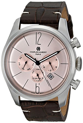 charles hubert Paris Herren 3959 rg Premium Collection Analog Display Japanisches Quarz braun Armbanduhr