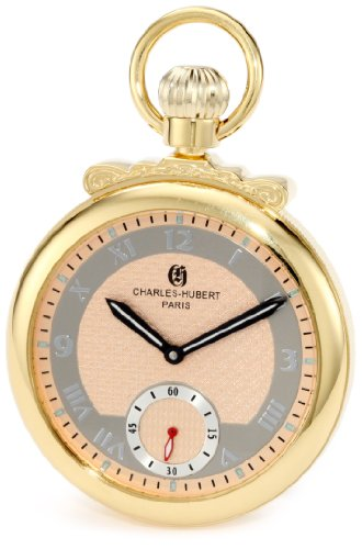 charles hubert Paris 3873 g Classic Collection vergoldet poliert Finish Open Face Mechanische Taschenuhr
