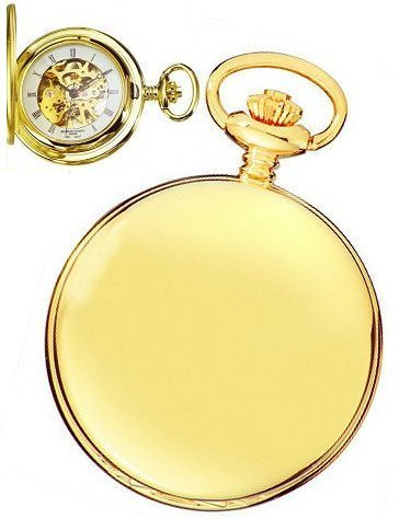 charles hubert Paris High Polish Gold Mechanische Taschenuhr