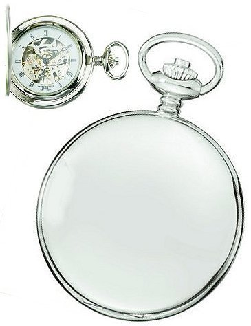 charles hubert Paris High Polish Chrome Mechanische Taschenuhr