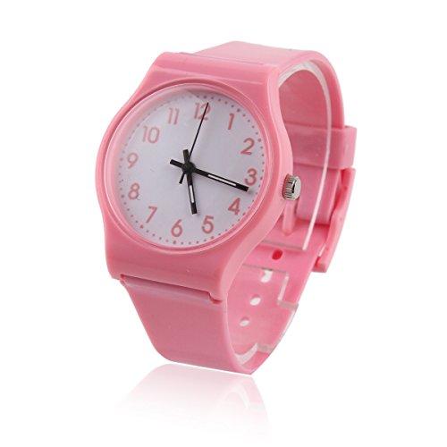 Damara Cool Unisex Kinder Digital Einfach Modegeschmack Armbanduhr Pink