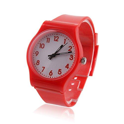 Damara Cool Unisex Kinder Digital Einfach Modegeschmack Armbanduhr Rot