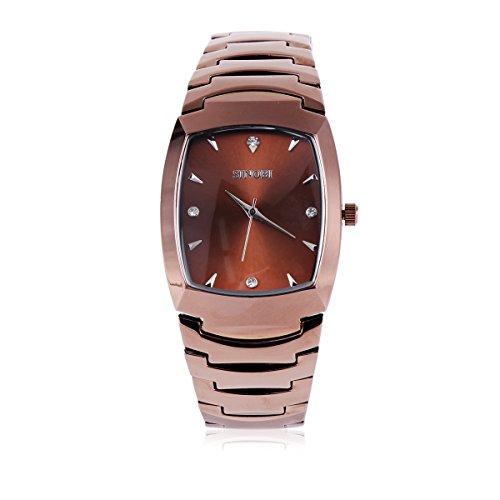 Damara Edelstahl Optisch Elegant Strass Damenarmbanduhr Armbanduhr