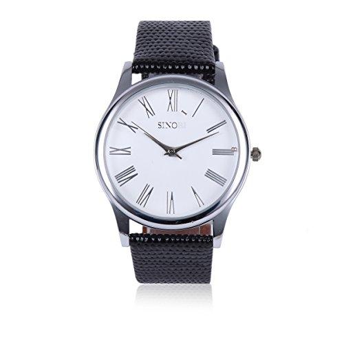 Damara Edelstahl Roemische Ziffern Klassisch Schoen Herrenarmbanduhr Armbanduhr