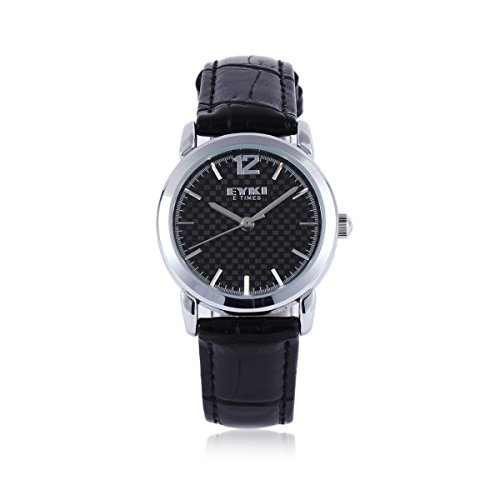 Damara Rund Edelstahl Kunstleder Praktisch Einfach Damenarmbanduhr Armbanduhr