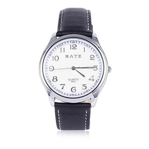 Damara Edelstahl Kunstleder Ruesche Optisch Einfach Damenarmbanduhr Armbanduhr