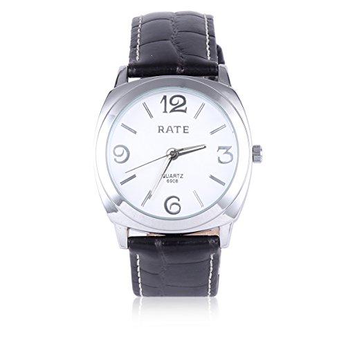 Damara Edelstahl Kunstleder Einfach Business Praktisch Herrenarmbanduhr Armbanduhr