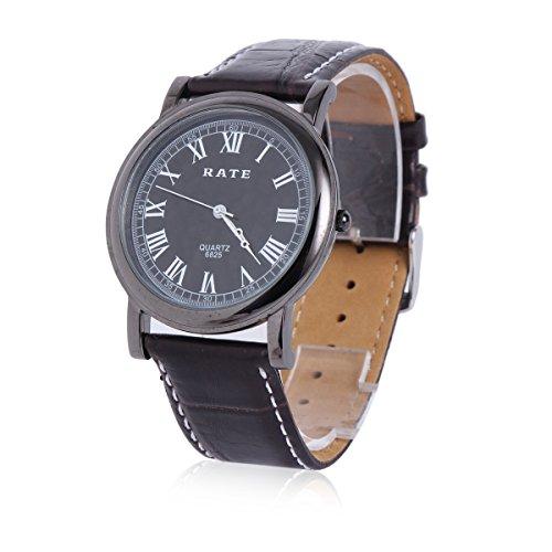 Damara Edelstahl Kunstleder Einfach Business Gentleman Herrenarmbanduhr Armbanduhr