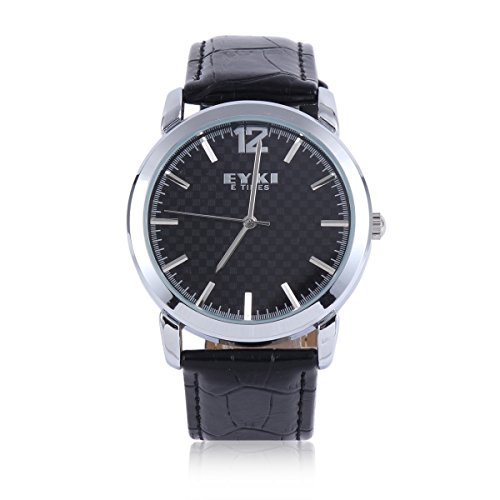 Damara Edelstahl Kunstleder Schick Einfach Business Gentleman Herrenarmbanduhr Armbanduhr