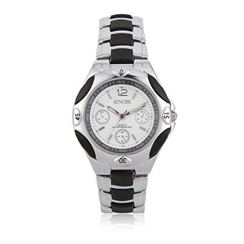Damara Edelstahl Rund Einfach Modegeschmack Business Herrenarmbanduhr Armbanduhr