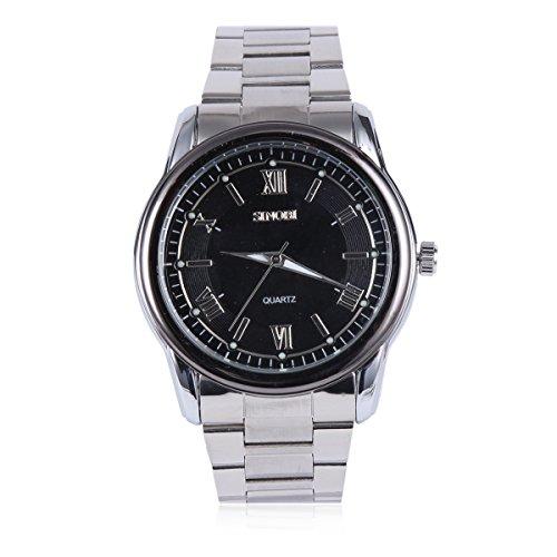 Damara Edelstahl Roemische Ziffern Elegant Sportlich Herrenarmbanduhr Armbanduhr