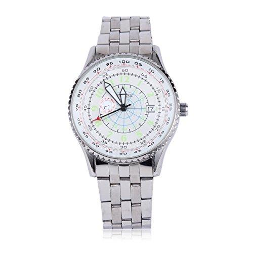 Damara Edelstahl Huebsch Kreativ Sportlich Herrenarmbanduhr Armbanduhr