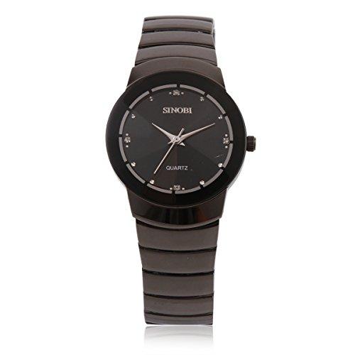 Damara Tungsten Rund Klassisch Einfach Schick Herrenarmbanduhr Armbanduhr