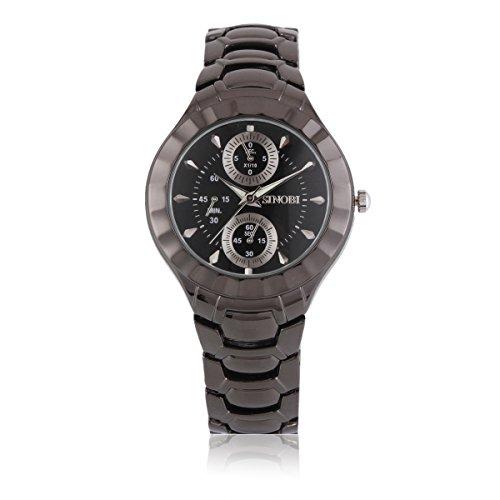 Damara Tungsten Rund Klassisch Einfach Business Herrenuhr Herrenarmbanduhr Armbanduhr
