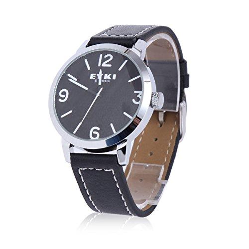 Damara Edelstahl Kunstleder Business Praktisch Hautfreundlich Herrenarmbanduhr Armbanduhr