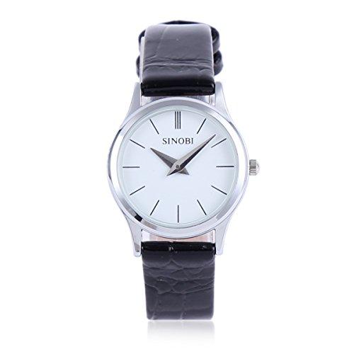 Damara Edelstahl Kunstleder Einfach Modegeschmack Damenarmbanduhr Armbanduhr