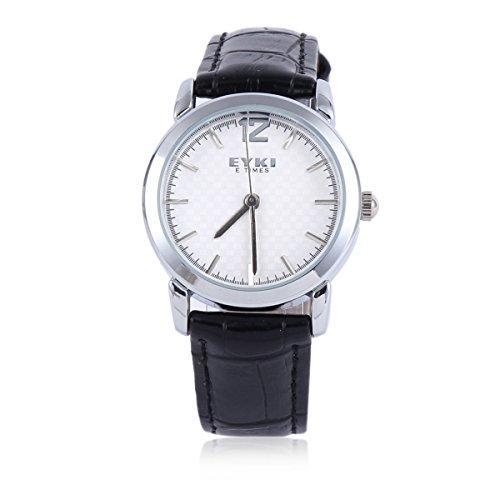 Damara Edelstahl Kunstleder Schick Modegeschmack Business Gentleman Herrenarmbanduhr Armbanduhr