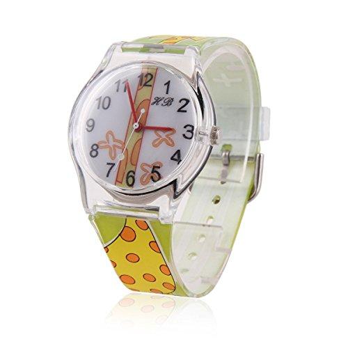 Damara Maedchen Gruen Digital Armbanduhr Mit Giraffe Gebild
