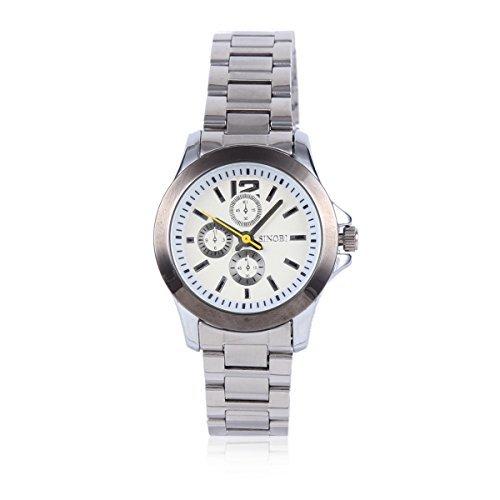 Damara Edelstahl Gelber Sekundenzeiger Optisch Wunderschoen Damenarmbanduhr Armbanduhr