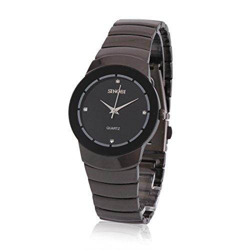 Damara Tungsten Rund Edel Einfach Schick Herrenarmbanduhr Armbanduhr