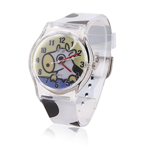 Damara Unisex Kinder Cartoon Digital Chic Armbanduhr Mit Suesse Kuh Gebild