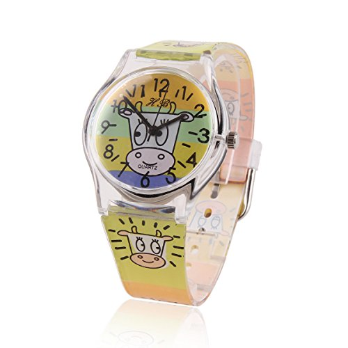 Damara Unisex Kinder Digital Buntfarbig Armbanduhr Mit Rind Gebild