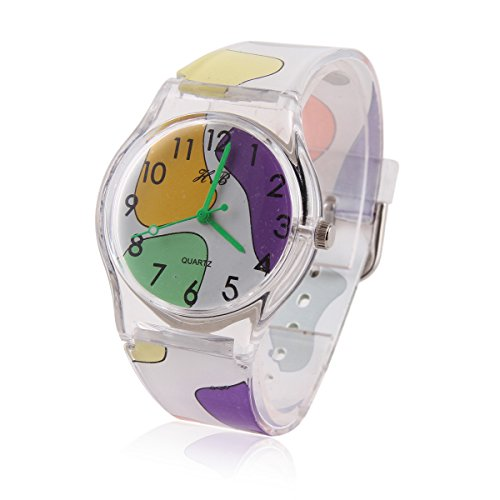 Damara Unisex Kinder Digital Buntfarbig Armbanduhr Chic Watches