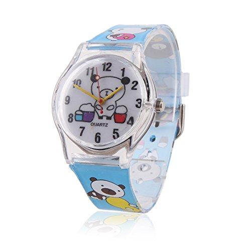 Damara Unisex Kinder Digital Blauer Armbanduhr Mit Suess Baeren