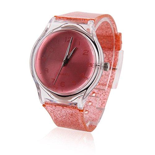 Damara Unisex Kinder Digital Silberhell Chic Armbanduhr Wassermelone