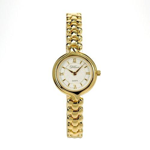 DeCave 006314104 Damen Schmuckbanduhr Messing gold platiert 23 mm Miyota 1L22 Gesamtlaenge ca 18 cm
