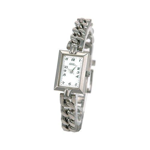 DeCave 006494013 Damenarmbanduhr Messing silber Messingband 24 x 18 mm Miyota 2035 Zifferblatt weiss