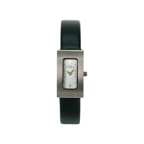 DeCave 101306225 Titan Damenarmbanduhr bicolor 30x16 mm Lederband Ronda 751 3 ATM