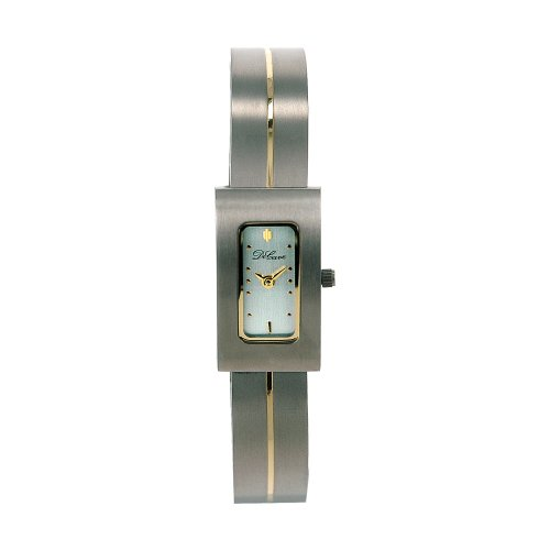 DeCave 101306226 Titan Damenarmbanduhr bicolor 30x16 mm Titanband Ronda 751 3 ATM