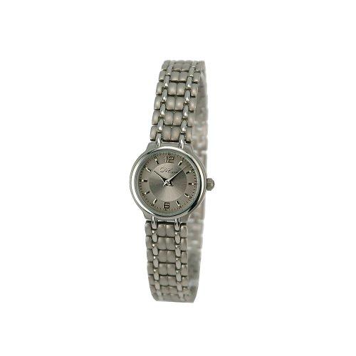 DeCave 101736007 Titan Damenarmbanduhr Titanband Miyota 1L22 3 ATM Zifferblatt grau