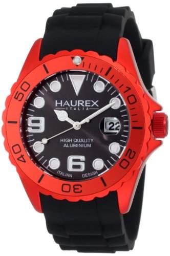 Haurex Italy Herren-Armbanduhr XL Ink Analog Silikon 1K374URN