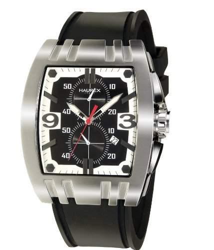 Haurex Italy Herrenuhr Mangusta Black Dial Watch #3A326UNS