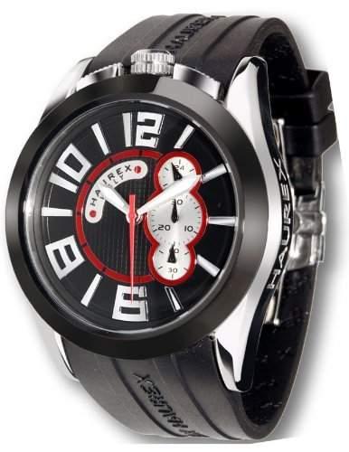 Haurex Italy Herrenuhr Blaze Black Dial Watch #3D333UNS