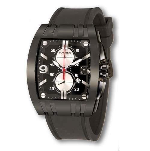 Haurex Italy Herrenuhr Mangusta Black Dial Watch #3N326UNN